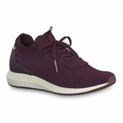 Tamaris Womens Burgundy Tavia Sneakers