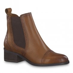 Tamaris Womens Rosemary Muscat Leather Chelsea Boots