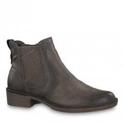 Tamaris Womens Hayden Taupe Chelsea Boots