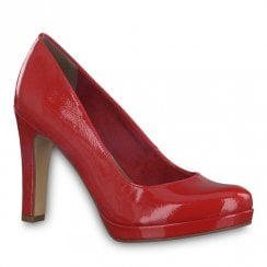 Tamaris Chili Red High Heeled Court Shoes