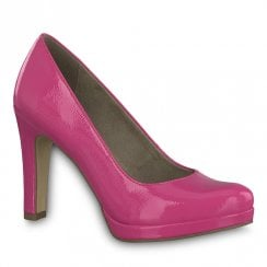 Tamaris Fuchsia Pink High Heeled Court Shoes