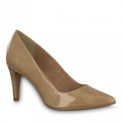 Tamaris Seagull Nude High Heeled Pointed Court Shoes