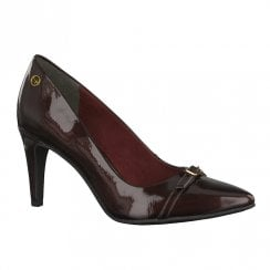 Tamaris Burgundy High Heeled Pointed Court Shoes