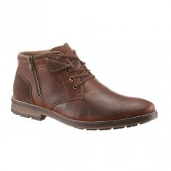 Rieker F5531 Mens Leather Lace Up Ankle Boots - Brown