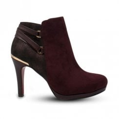 Kate Appleby Anerley High Heeled Ankle Boots - Burgundy