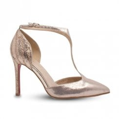 Kate Appleby Peckham T-Bar Stiletto High Heels - Champagne