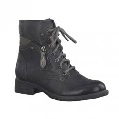 Soft Line Womens Black Biker Ankle Boots