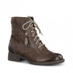 Soft Line Womens Brown Biker Ankle Boots