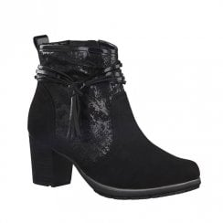 Soft Line Womens Black Block Heel Ankle Boots