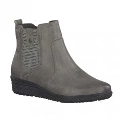 Soft Line Womens Grey Flat Ankle Boots