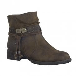 Soft Line Womens Brown Flat Ankle Boots