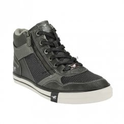 Mustang Women's Zip High Sneakers - Dark Grey