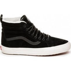 Vans Womens Suede MTE Sk8-Hi Fur Top Shoes - Black/Marshmallo