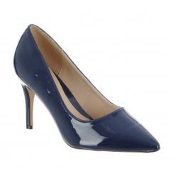 Millie & Co Cameron Pointed Court Shoe - Navy
