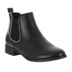 Millie & Co Stud Trim Ankle Boot - Black