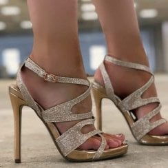 Millie & Co Sherry Strappy Sandal - Gold
