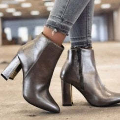 Millie & Co Blake Ankle Boot - Pewter