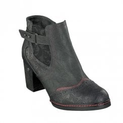 Mustang High Heeled Ankle Boots - Graphite
