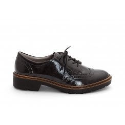 Ara Ladies Black Lace Up Brogues