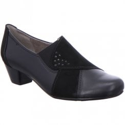 Ara Ladies Black High Front  Shoe