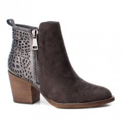 XTI Womens 48249 Ankle Boots - Dark Grey