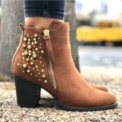 Sprox 434543 Cognac Tan Ankle Boot