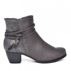 Redz Side Tassel Ankle Boot - Grey