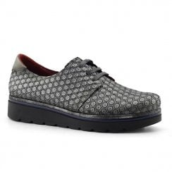 Jose Saenz Grey Lace Up Shoe