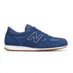New Balance Womens 420 Suede Lace Up Sneakers - Blue