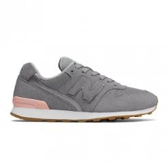 New Balance Womens 996 Suede Lace Up Sneakers - Grey Pink