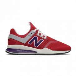 New Balance Mens 247 Mesh Lace Up Sneakers - Red