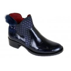 Jose Saenz 2121 Navy Ankle Boot