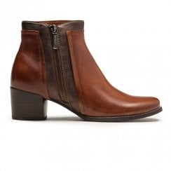 Regarde Le Ciel Isabel 28 Heeled Ankle Leather Boots - Tan