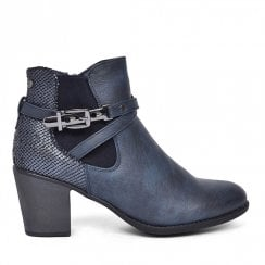 Zanni & Co Central One Heeled Ankle Boots - Cobalt Blue