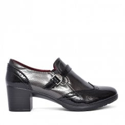 Zanni & Co Flanders Patent Heeled Shoes - Black/Grey