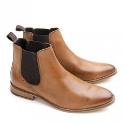 Ikon Jerry Men's Slip On Chelsea Boots - Tan