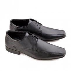 Ikon Fraser Men's Leather Lace Up Smart Shoes - Black