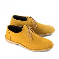 Ikon Franklin Men's Casual Derby Shoes - Yellow Mustard