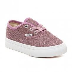 Vans Kids Authentic Glitter Infant Trainers - Pink