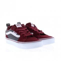 Vans Kids Filmore Suede Trainers Shoes - Burgundy/Grey
