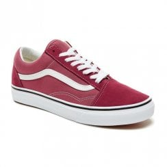 Vans Unisex Color Theory Old Skool Shoes - Dark Rose/Burgundy