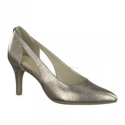 Marco Tozzi Womens High Heeled Pointed Elegant Shoes - Pewter