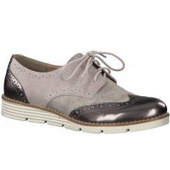 S Oliver Rose Combination Lace Up Brogue