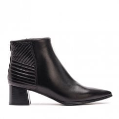 Unisa Jose Black Block Heeled Ankle Boots