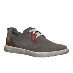 S.Oliver Mens Suede Casual Laced Shoes - Grey