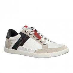 S.Oliver Mens Casual Laced Trainers Shoes - Off White