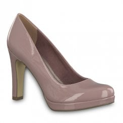 Tamaris Womens Lycoris High Heel Court Shoes - Mauve Patent