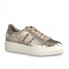 Tamaris Womens Sneakers Shoes - Old Metallic Rose