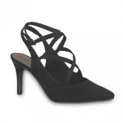 Tamaris Seagull Womens Suede High Stiletto Heel - Black