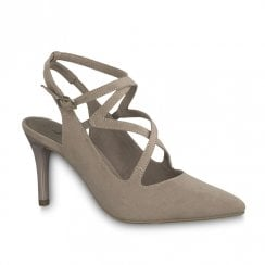 Tamaris Seagull Womens Suede High Stiletto Heel - Taupe